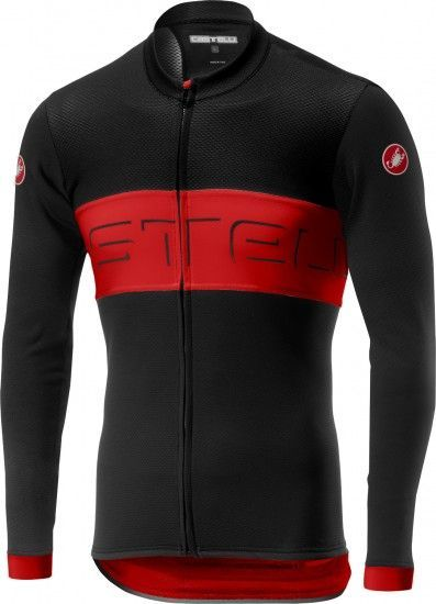Castelli Prologo Vi Long Sleeve Cycling Jersey Black/Red/Black