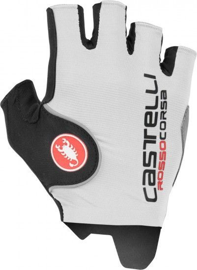 Castelli Rosso Corsa Pro Short Finger Cycling Gloves White