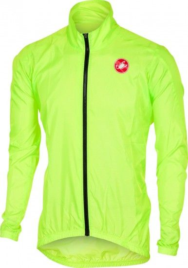 Castelli Squadra Er - Windproof Cycling Jacket Yellow Fluo