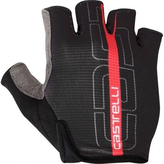 Castelli Tempo - Short Finger Cycling Gloves Black/Red