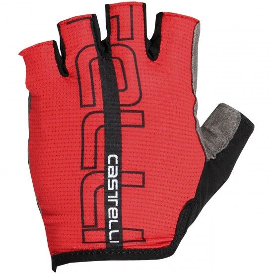 Castelli Tempo - Short Finger Cycling Gloves Red