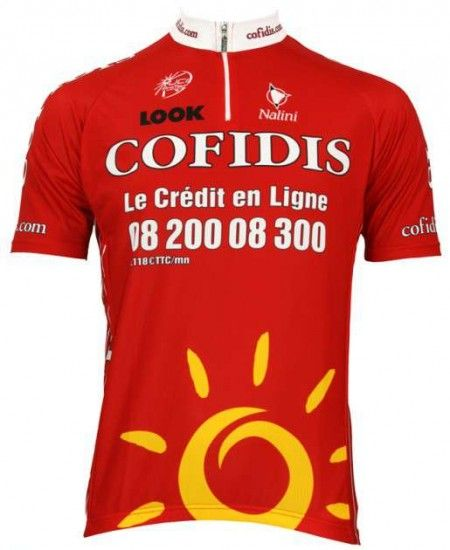 Nalini Cofidis 2009 Professional Cycling Team - Cycling Jersey With Short Zip