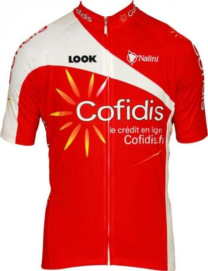 Nalini Cofidis 2012 Professional Cycling Team - Tricot (Jersey Short Sleeve - Long Zip)