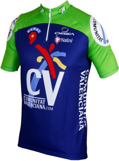 Nalini Comunitat Valenciana 2005 Tricot (Jersey Short Sleeve - Short Zip) - Professional Cycling Team