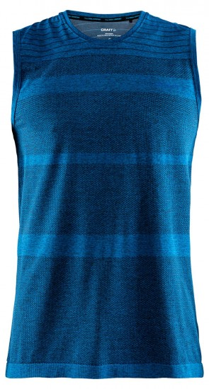 Craft Cool Comfort Rn Sl Cycling Sleeveless Base Layer Blue Melange (1904915-1356)