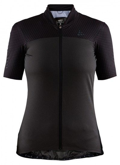Craft Hale Glow Womens Short Sleeve Cycling Jersey Black (1907128-999000)