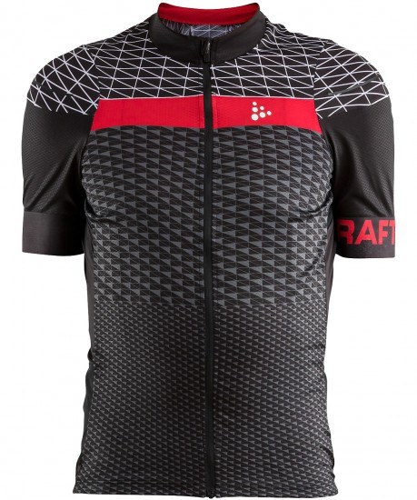Craft Route Short Sleeve Cycling Jersey Black/Red (1906089-999430)