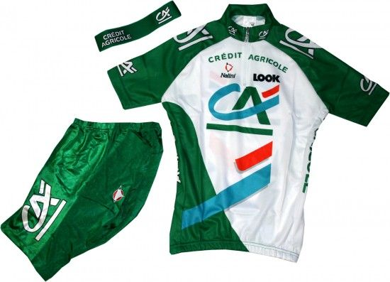 Nalini Credit Agricole 2005 Cycling Set For Kids (Jersey, Trousers, Headband) - Professional Cycling Team