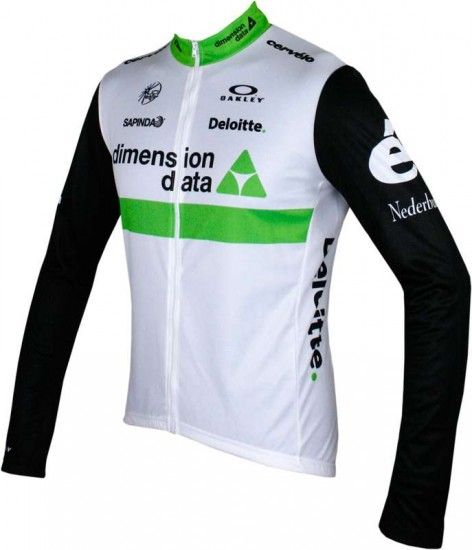 Moa Dimension Data 2016 Long Sleeve Jersey (Long Zip) - Professional Cycling Team