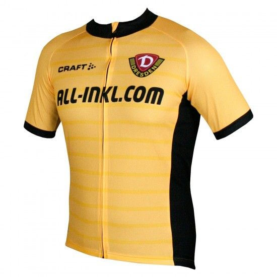 Craft Dynamo Dresden - Home - Short Sleeve Cycling Jersey Yellow/Black