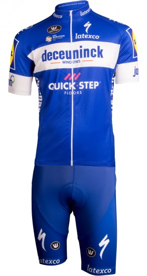 Vermarc Deceuninck-Quick-Step 2019 Set (Jersey Long Zip + Bib Short) - Professional Cycling Team