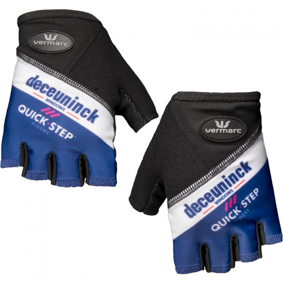 Vermarc Deceuninck-Quick-Step 2019 Short Finger Cycling Gloves - Professional Cycling Team