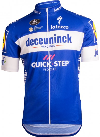 Vermarc Deceuninck-Quick-Step 2019 Short Sleeve Cycling Jersey (Long Zip) - Professional Cycling Team