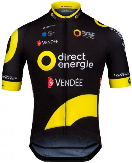 Wilier Direct Energie 2018 Short Sleeve Cycling Jersey (Long Zip) - Professional Cycling Team