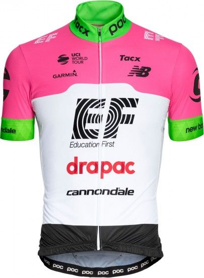 Poc Ef Education First - Drapac 2018 Set - (Jersey Long Zip + Strap Trousers) - Professional Cycling Team
