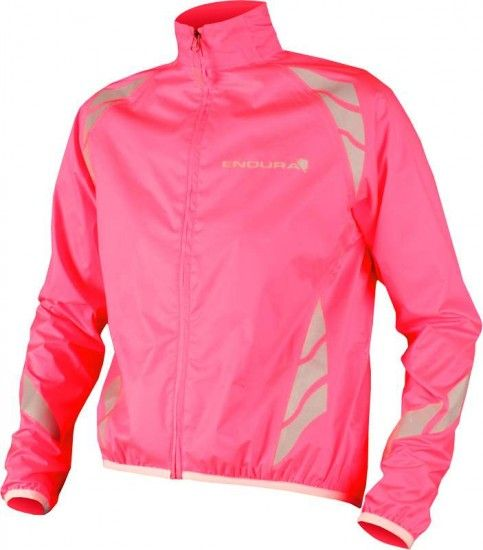 Endura Kids Waterproof/Reflective Jacket Luminite Hi-Vis Pink