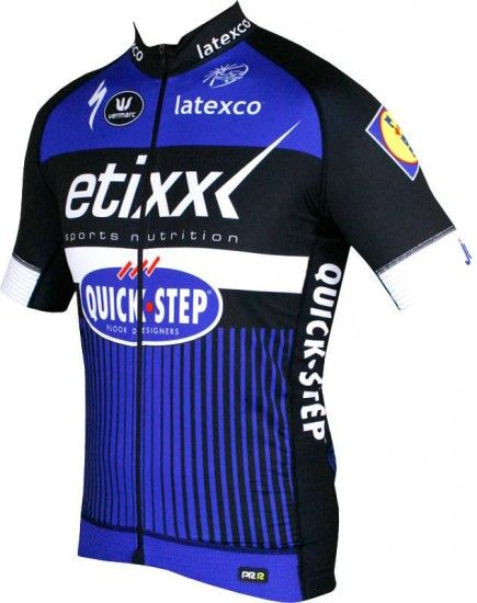 Vermarc Etixx-Quickstep 2016 Racing Short Sleeve Jersey (Prr, Long Zip) - Professional Cycling Team