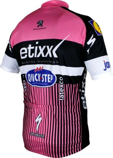 Vermarc Etixx-Quickstep Tour Special Edition 2016 Short Sleeve Jersey Pink (Long Zip) - Professional Cycling Team