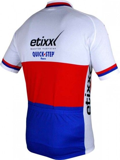 Vermarc Etixx-Quickstep Czech Champ 2015 Short Sleeve Jersey (Short Zip) - Professional Cycling Team