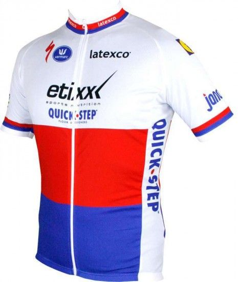 Vermarc Etixx-Quickstep Czech Champ 2016 - Short Sleeve Jersey (Long Zip) - Professional Cycling Team