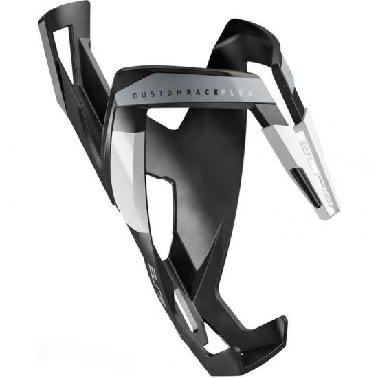 Elite Bottle Cage Custom Race Plus Black/White/Matte