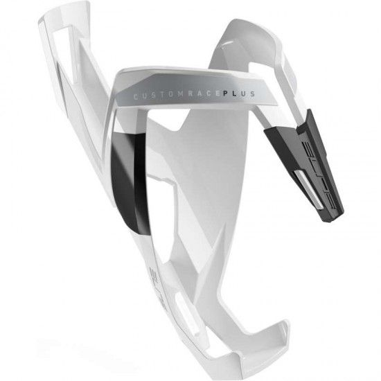 Elite Bottle Cage Custom Race Plus White/Black