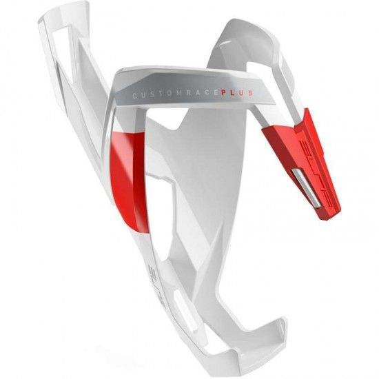 Elite Bottle Cage Custom Race Plus White/Red