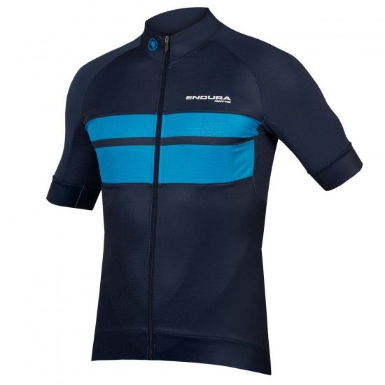 Endura Fs260-Pro Short Sleeve Cycling Jersey Navy Blue (E3142Na)