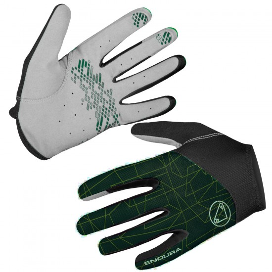 Endura Hummvee Lite Ii Ltd Long Finger Mtb Gloves Dark Green (E1204Gf)