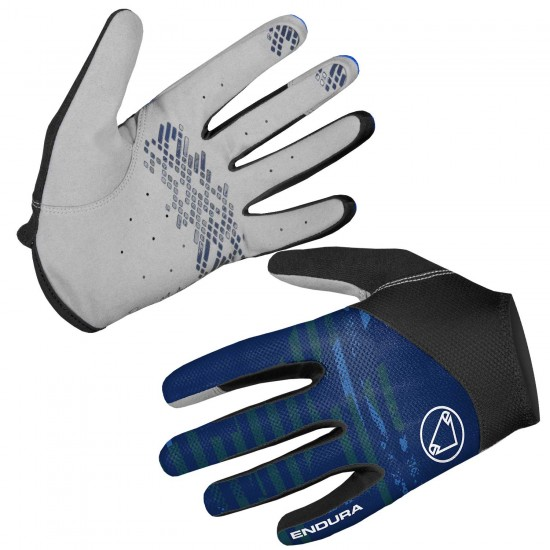 Endura Hummvee Lite Ii Ltd Long Finger Mtb Gloves Navy Blue (E1204Na)