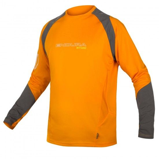Endura Mt500 Burner Mtb/Freeride Long Sleeve Cycling Jersey Mango (E3123Om)