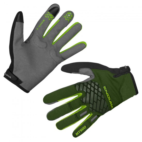 Endura Mt500 Ii Ltd Long Finger Mtb/Freeride Gloves Green (E0132Gf)