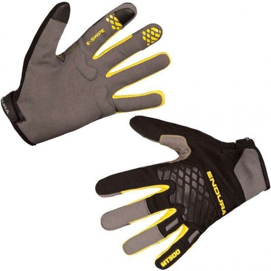 Endura Mt500 Ii Long Finger Mtb/Freeride Gloves Black/Yellow (E0132Bk)
