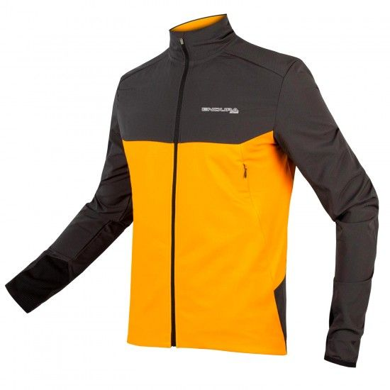 Endura Mt500 Thermo Long Sleeve Cycling Jersey Gray/Orange (E3158Om)