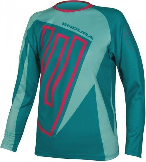Endura Mt500Jr Kids Long Sleeve Cycling Jersey Teal (E7121Tl)