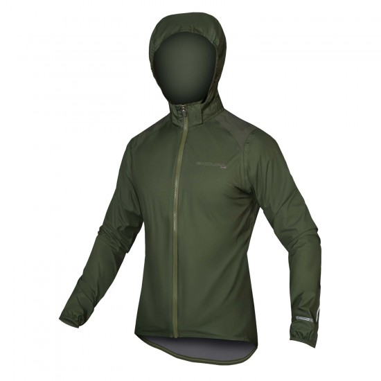Endura Mtr Shell Waterproof Rain Jacket Green (Em0053Gf)