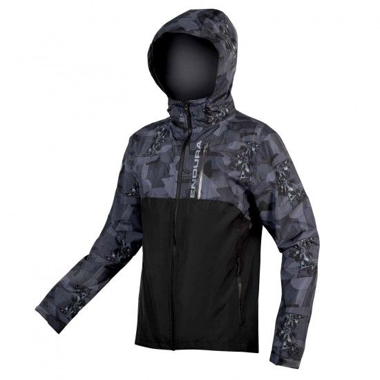 Endura Singletrack Ii Full Season Rain Jacket Black/Camo (E9098Bk)