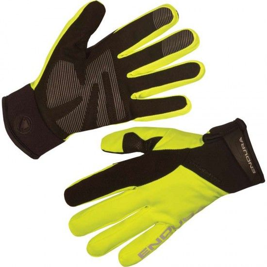 Endura Strike Ii Cycling Long Finger Gloves Hi-Viz Yellow (E0128Yv)