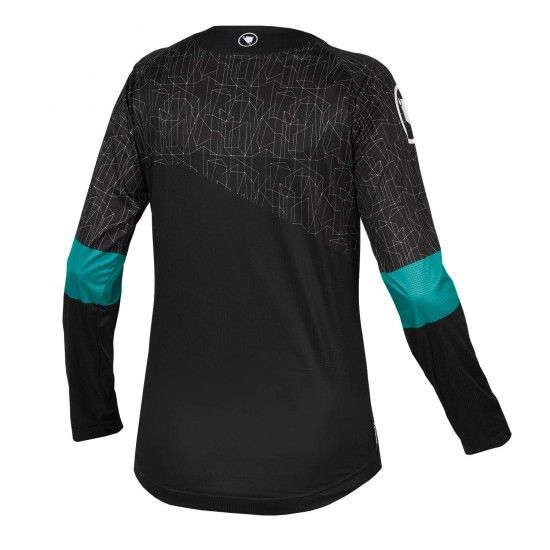 Endura Wms Mt500 Print T Ii Ltd Womens Long Sleeve Cycling Jersey Black (E6149Bk)