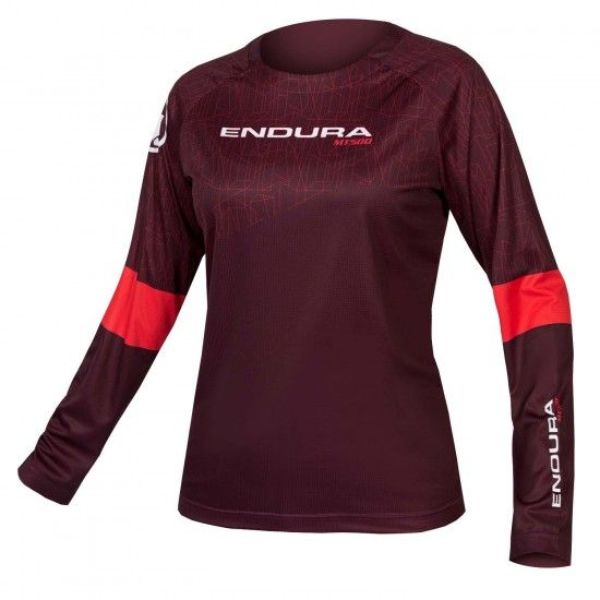 Endura Wms Mt500 Print T Ii Ltd Womens Long Sleeve Cycling Jersey Mulbeery (E6149My)