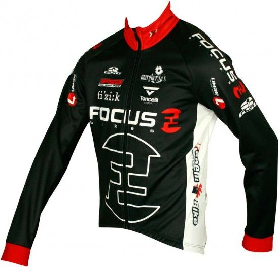 Giessegi Focus 2012 Professional Cycling Team - Jacket/Winterjacket Black
