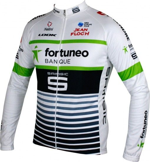 Nalini Fortuneo - Samsic 2018 Long Sleeve Cycling Jersey - Professional Cycling Team