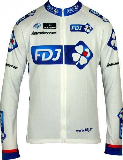 Btwin Francaise Des Jeux (Fdj) 2013 Cycling Long Sleeve Jersey - Professional Cycling Team