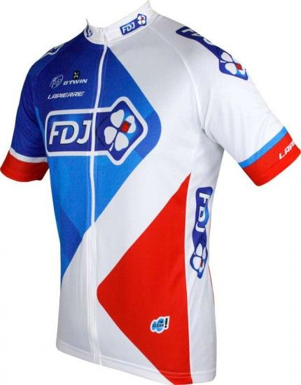 Btwin Francaise Des Jeux (Fdj) 2016 Cycling Jersey (Long Zip) - B'Twin Professional Cycling Team