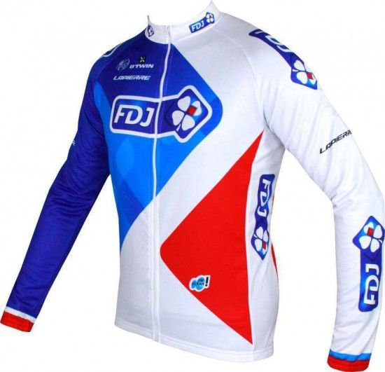 Btwin Francaise Des Jeux (Fdj) 2016 Long Sleeve Jersey - B'Twin Professional Cycling Team