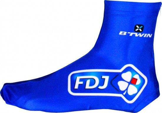 Btwin Francaise Des Jeux (Fdj) 2016 Overshoe/Shoe Cover - B'Twin Professional Cycling Team