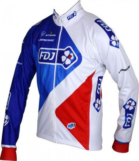 Btwin Francaise Des Jeux (Fdj) 2016 Winter Jacket - B'Twin Professional Cycling Team