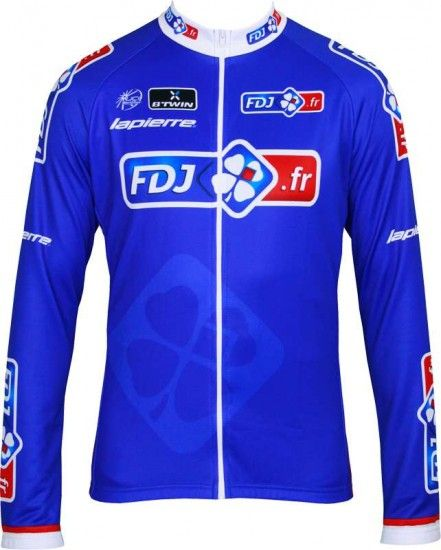 Btwin Francaise Des Jeux (Fdj)-Tour 2013 Cycling Long Sleeve Jersey - Professional Cycling Team