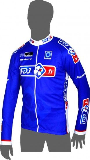 Btwin Francaise Des Jeux (Fdj.Fr) 2014 Long Sleeve Jersey - Professional Cycling Team