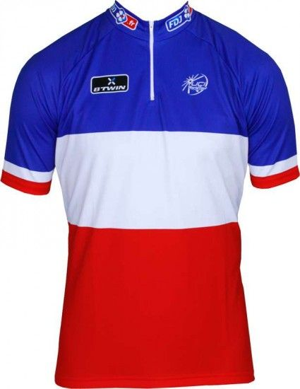 Btwin Francaise Des Jeux (Fdj) French Champ 2013/2014 - Cycling Jersey With Short Zip